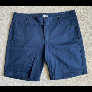 "J. Crew 9"" navy blue shorts (NWOT)"